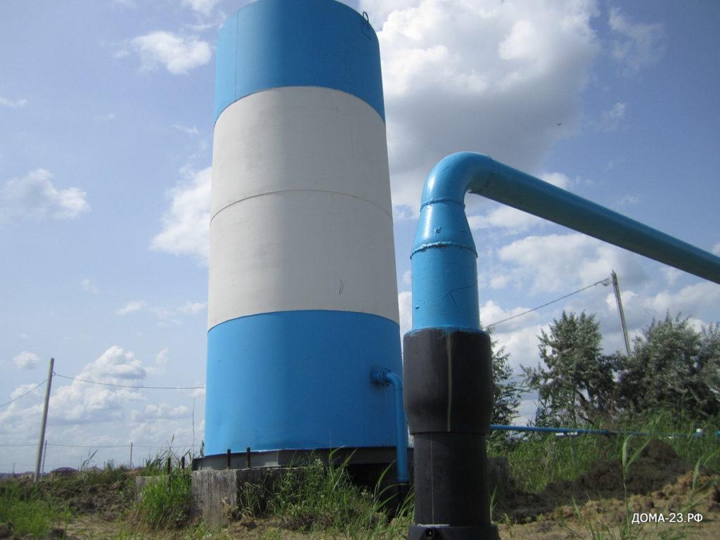 Водонапорная башня, нового коттеджного поселка АДМИРАЛТЕЙСКИЙ