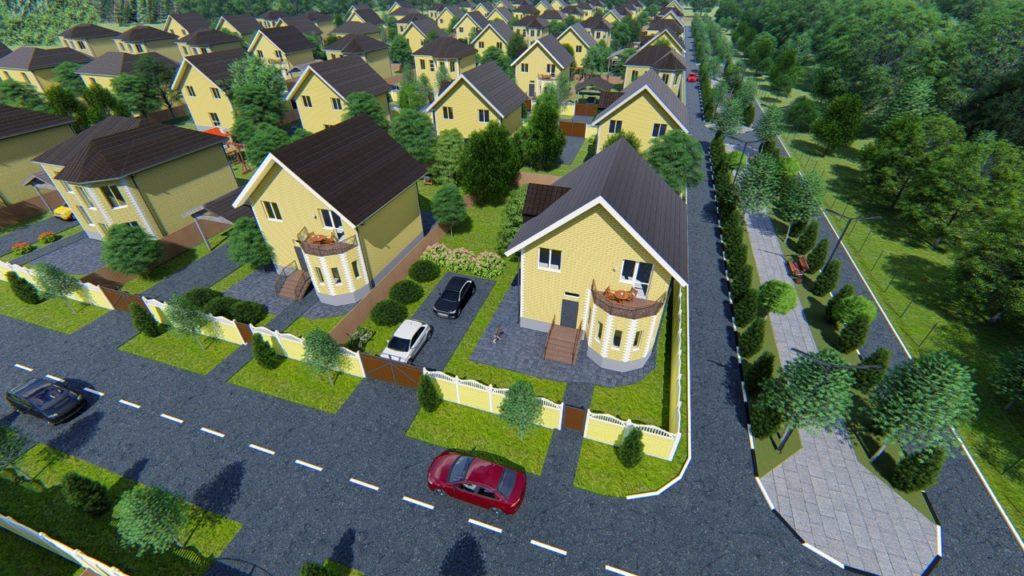 Типы домов в поселке Адмиралейский-2
